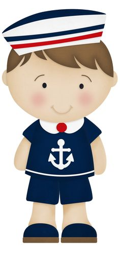 Cartoon boy wearing a sailor suit PNG and Clipart Decoration Creche, Costume Marin, Sailor Theme, Sailor Party, Nautical Party, Anchor Party, Nautical Banner, Baby Shawer, Baby Mobile