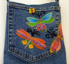 Laurel Burch Original Design Hand Embroidered and Appliquéd by SarahYsCottage