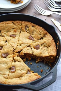 Peanut Butter Cup Cookie Pie from What The Fork Food Blog