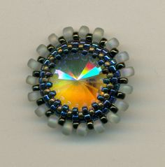 Swarovski Rivoli Pendant made by Marcie Lynne Price $40.00