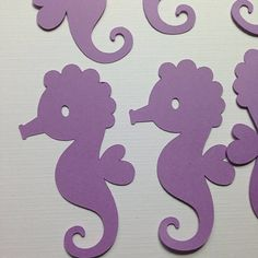 Cute Seahorse Die Cuts ~ Paper Seahorse Cut Outs, Mermaid Party, Under the Sea Party, First Birthday Party Decorations, Photo Prop Decor