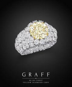 Graff Diamonds: 88.88 carat Yellow Diamond Cuff Bracelet