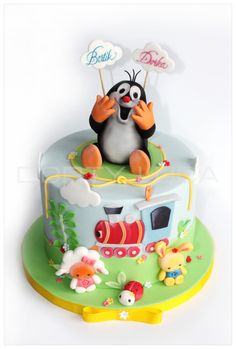 Krteček by Dorty LuCa Mole, Themed Cakes, Macarons, Sweets, Recipes, Kids, Fondant Decorations, Bakken, Theme Cakes