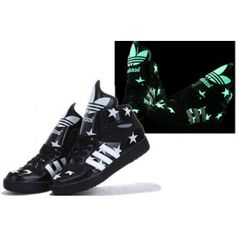 finest selection 534f5 0e8cc Adidas Big Tongue Tennis Shoes Black Stars Pattern Sale Cheap