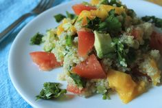 quinoa salad with mango and avocado. | Frugal Foodie Family