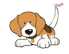 Wandtattoo Beagle liegend