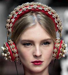 Dolce and Gabbana fall 2015 headphones.