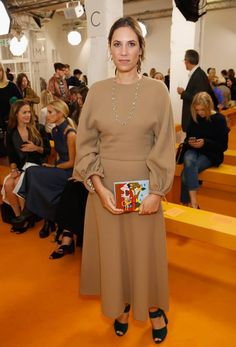 Tatiana Santo Domingo of Monaco, Princess Caroline's daughter-in-law, in 2016 wearing Emilia Wickstead. Laura Bailey, Olivia Palermo, Royal Fashion, Fashion Looks, Andrea Casiraghi, Beatrice Casiraghi, Princess Caroline Of Monaco, Monaco Princess, Princess Mary