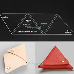 Acrylic Leather templates DIY unisex tools 897 MODEL To make Triangles Coin Purse