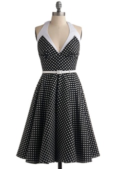 all the cute dresses are polka dot.