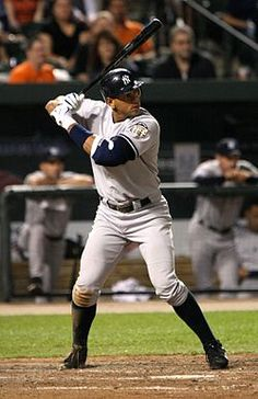 Alex Rodriguez with the Yankees, No. 13.