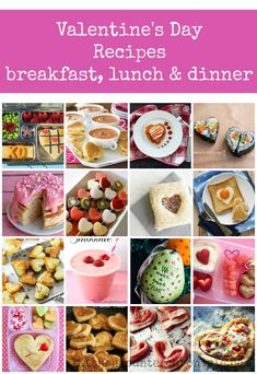 Valentine's Day Recipes: Breakfast, Lunch and Dinner A fabulous collection of Valentine's Day recipes that are perfect for the kids to help make and for your entire family to enjoy eating. Breakfast, lunch and dinner. Valentines Day Food, Valentines Breakfast, Valentines Day Activities, Family Valentines Dinner, Dinners For Kids, Lunches And Dinners, Kids Meals, Valentine's Day Recipes Breakfast, Lunch Recipes