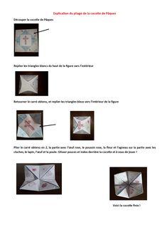 Explications pliage cocotte de Pâques Triangles, Magazine Rack, Storage, Home Decor, Dutch Oven, Purse Storage, Decoration Home, Room Decor, Larger