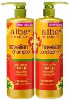 Alba Botanica Mango BodyBuilder shampoo and conditioner