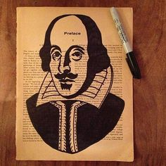 Portrait of William Shakespeare  Original Artwork by Gliterature, £4.50