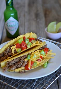 Easy Lean Ground Beef Tacos | mountainmamacooks.com #glutenfree #TacoTuesday