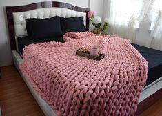 Chunky knit blanket Lap Blanket Chunky knit throw Chunky