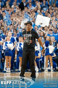 Does Jay Z come to your school's basketball games?
