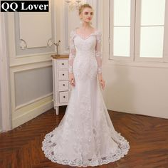 26af8275e553d Cheap wedding gowns, Buy Quality mermaid wedding dresses directly from  China wedding dress long sleeve Suppliers: QQ Lover 2018 New V-neck  Backless Mermaid ...