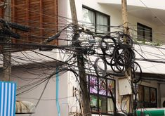 The cable chaos. by irio. Utility Pole, Cable, Easy, Cabo, Electrical Cable, Cords, Wire
