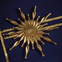 Gold Spiral Starburst Decoration