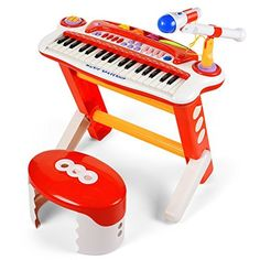 Melissa & Doug Learn-to-Play Piano (Musical Instruments, Solid Wood Construction, 25 Keys and 2 Full Octaves, H x W x L, Great Gift for Girls and Boys - Best for and 5 Year Olds) Childhood Toys, Early Childhood, Best Piano Keyboard, Kids Piano, Great Christmas Presents, Musical Toys, Piano Teaching, Melissa & Doug, Gifts For Kids