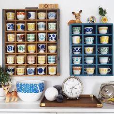 Arabia Finland vintage coffee cups Finnish kitchen