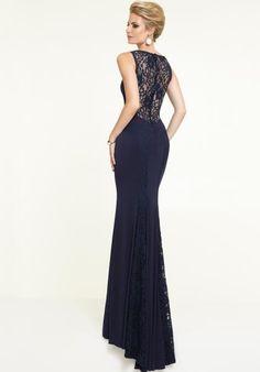 Mori Lee 2015 High Neckline Jersey Prom Dress 97136
