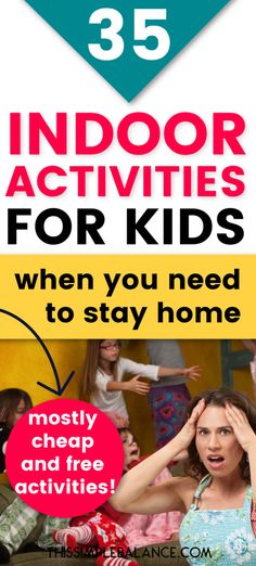 Stay at Home Activities for Kids: Stuck at home for a long time with your kids? Check out this list of 35+ ideas for activities you can do at home for cheap to keep kids busy! #1 is our favorite these days. #parentingtips #parentingadvice