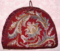 Antique Victorian Beadwork Needlepoint Tea Cosy