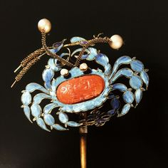 Chinese kingfisher hair ornament