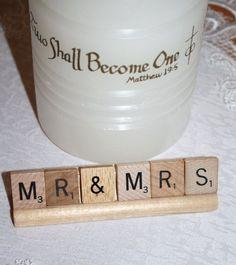 Mr & Mrs Wedding Scrabble Decor by HidingPlaceBoutique on Etsy