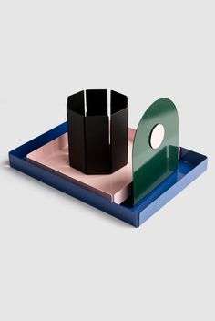 Powder-coated metal tray and desk accessories by Milligram Studio Buy Stationery Online, Stationery Shop, Metal Sheet Design, Sheet Metal, Metal Furniture, Furniture Vintage, Industrial Furniture, Furniture Design, Modern Desk Accessories