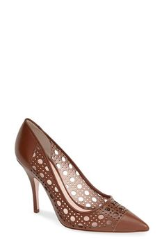 I bought these pumps and absolutely love them! Classic! kate spade new york 'lizette' perforated leather pointy toe pump (Women) available at #Nordstrom
