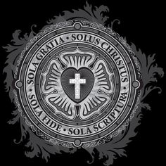 """""""Luther Rose Christian Luther Seal"""" Stickers by Carl Huber Reformation Day, Protestant Reformation, Reformation History, Christus Tattoo, Martin Luther Reformation, Luther Rose, Seal Tattoo, 5 Solas, Sola Scriptura"""
