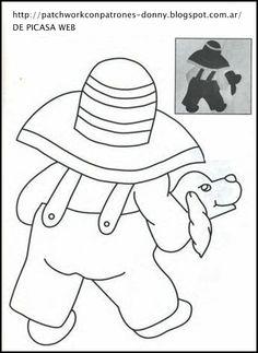 Overall Bill - Juany Cavero - Álbuns da web do Picasa Patchwork Patterns, Quilt Patterns Free, Applique Patterns, Applique Quilts, Embroidery Applique, Applique Cushions, Paper Embroidery, Doily Patterns, Dress Patterns