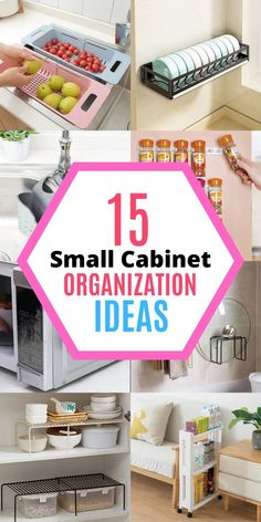 Is your cabinet getting more cluttered and there is just no room for the new stuff you've just bought? In today's post, I am going to show you 5 super easy ways to instantly double your storage space and transform your upper cabinets. No more knocking over things and losing items in the cabinet, grab these 5 amazing organization ideas now! #homewhis #cabinetorganization #kitchenorganization #uppercabinetorganization #organization #declutter Small Kitchen Organization, Fridge Organization, Organization Hacks, Sink Organizer, Small Cabinet, Upper Cabinets, Declutter, Storage Spaces, Super Easy
