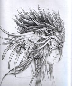 DeviantArt is the world's largest online social community for artists and art enthusiasts, allowing people to connect through the creation and sharing of art. Norse Tattoo, Raven Tattoo, Nature Tattoos, Body Art Tattoos, Drawing Sketches, My Drawings, Tattoo Gesicht, Gas Mask Art, Phoenix Art