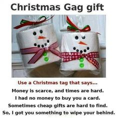 Funny christmas tags hilarious gag gifts ideas for 2019 Gag Gifts Christmas, Santa Gifts, Christmas Wrapping, Christmas Humor, Christmas Crafts, Christmas Ornaments, Christmas Ideas, Cheap Christmas, Christmas Decorations