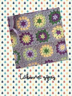 Tabouret gipsy (mandala granny squares)