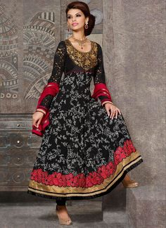 EXOTIC SELLERS!!  Majestic Black And Red Patch Border Work Georgette Designer Anarkali Suit  Product Order link :http://www.usarees.com/salwar-kameez/majestic-black-and-red-patch-border-work-georgette-designer-anarkali-suit-2919  ITEM CODE: 2919 Celebrity :sherlyn chopra Color :Red Black Fabric :Faux Georgette Work :Patch Border Resham Occasion :Festival Reception Price : Rs2,730  Call or Whatsapp : +919377152141 SHOP NOW!!