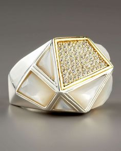 Kara Ross Big Mother-of-Pearl Ring