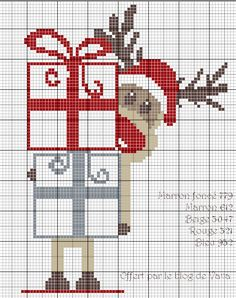 Santa Cross Stitch, Just Cross Stitch, Cross Stitch Cards, Cross Stitch Animals, Cross Stitching, Wedding Cross Stitch Patterns, Modern Cross Stitch Patterns, Counted Cross Stitch Patterns, Cross Stitch Designs