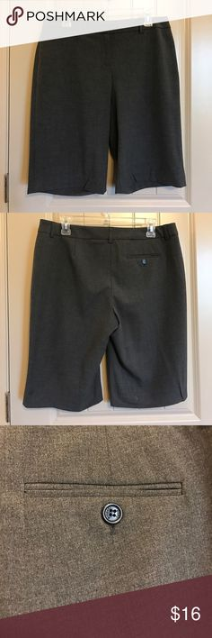 Classic MK Grey Suit Shorts Classic grey knee-length suit shorts by MICHAEL Michael Kors. Excellent used condition! Shell is 62% polyester, 34% viscose, 4% elastane. Lining is 100% polyester. Single right back pocket with button. Dry clean only. Made in Bulgaria. MICHAEL Michael Kors Shorts