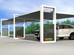 Marquesina de acero revestido de polvo para aparcamiento K-SHELT by Kopron