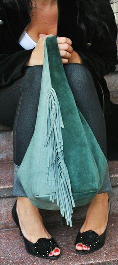 Alva bag of suede - Alva cartera en gamuza de doble color