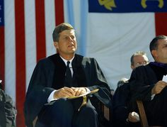 Giving a speech at the University of North Carolina at Chapel Hill.  Remembering JFK...50 Years.