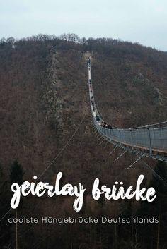 Hängeseilbrücke Geierlay - 100 Meter über dem Abgrund! Die längste Hängeseilbrücke Deutschlands ist wunderbar geeignet für einen Ausflug mit Kindern.   #Hängeseilbrücke #Geierlay #familytravel #reisenmitKindern