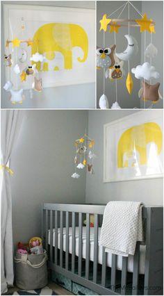 The McBaileys Gender Neutral Nursery Mobile and Crib