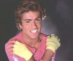 I just had to have these neon fingerless gloves...and George Micheal ;)